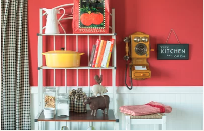 kitchen remodel and decor with red walls