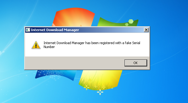 "Cara Memperbaiki IDM ""Internet Download Manager has been registered with a fake Serial Number"""