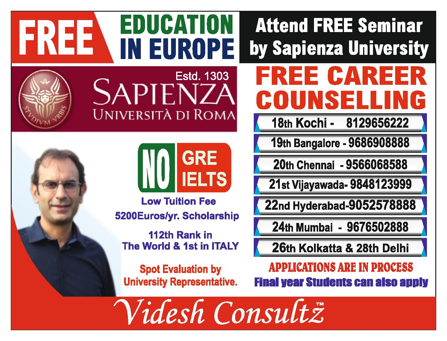 Free Education In Europe: Study In Italy
