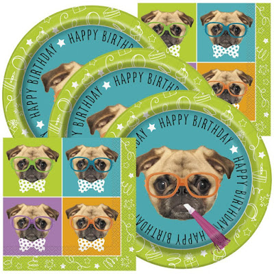 Disney Puppy Dog Pals inspired party supplies-a pug paper goods package