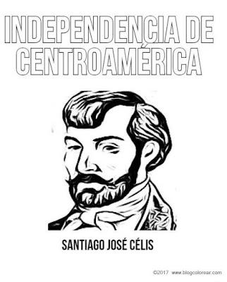 colorear dibujo Santiago José Célis 15 de Septiembre