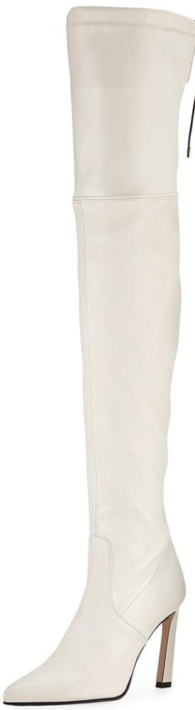 Stuart Weitzman Natalia 100mm Leather Over-The-Knee Boots