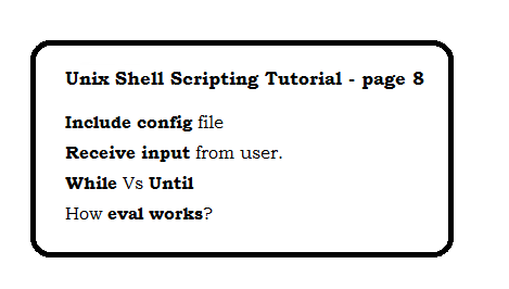 Unix Shell Scripting Tutorial - page 8
