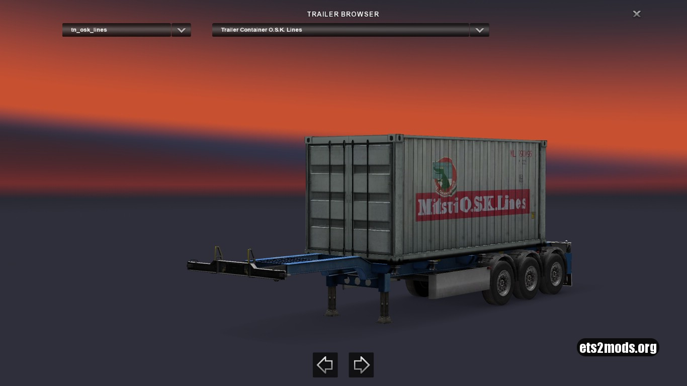 Container Mitsui O.S.K. Lines Old Logo Trailer