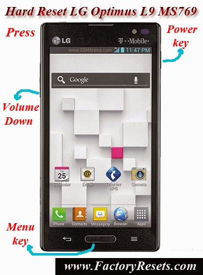 Hard Reset LG Optimus L9 MS769