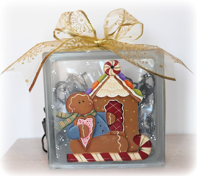 Glass Block Christmas Craft Ideas