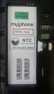 Myphone model my28 back