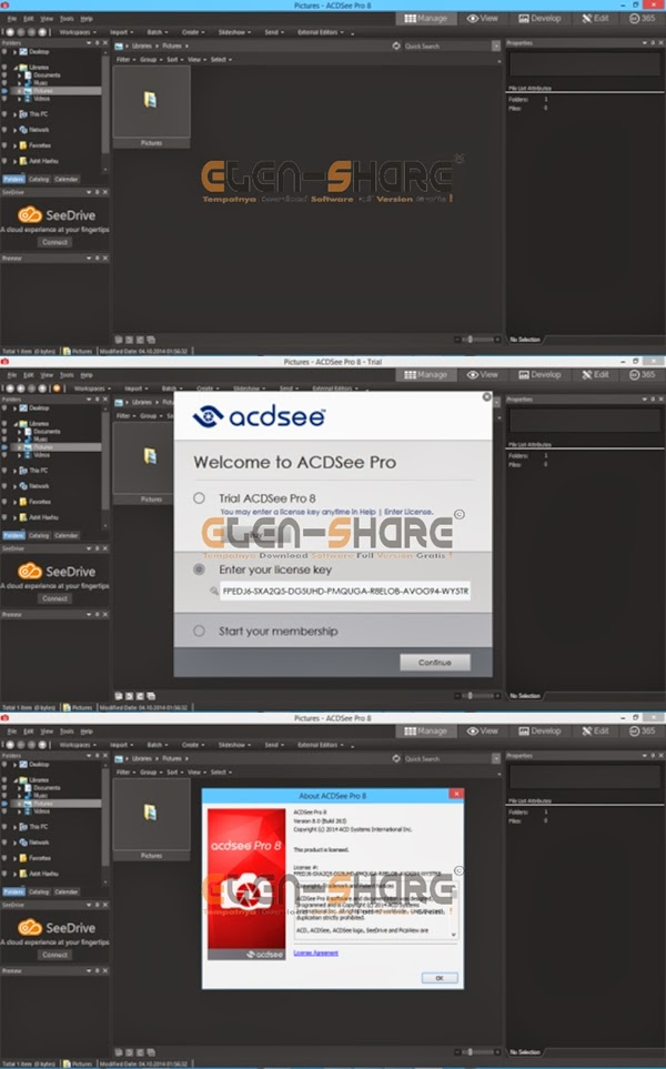 ACDSee Pro 8.0 Build 262 Full Key Serial (32bit and 64bit)