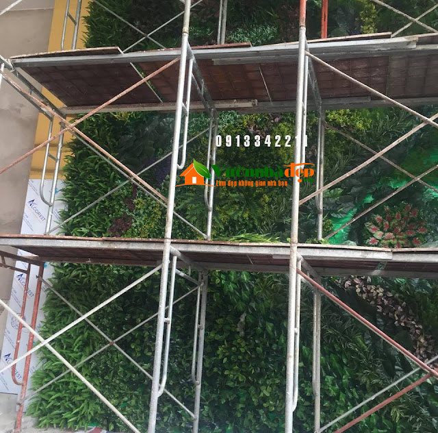Thi Công tường cây giả - Đẹp như tường cây thật - 17