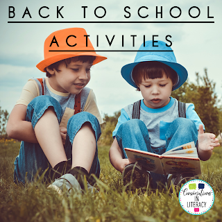Back to School Activities  for elementary classrooms