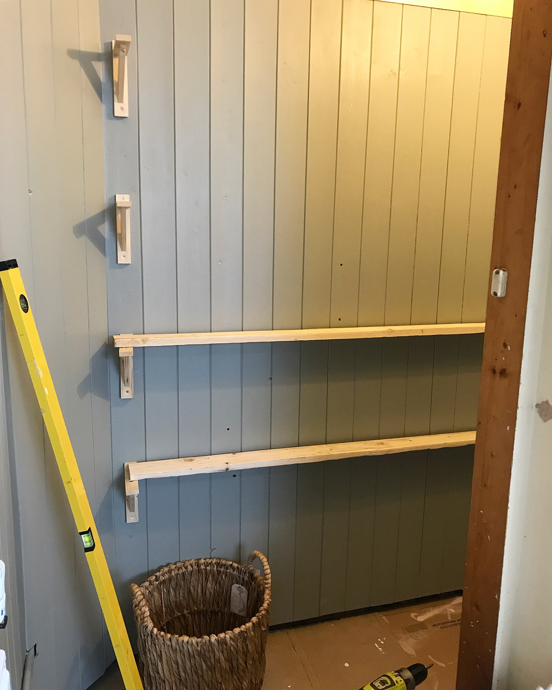 Rustic Shelves in Pantry