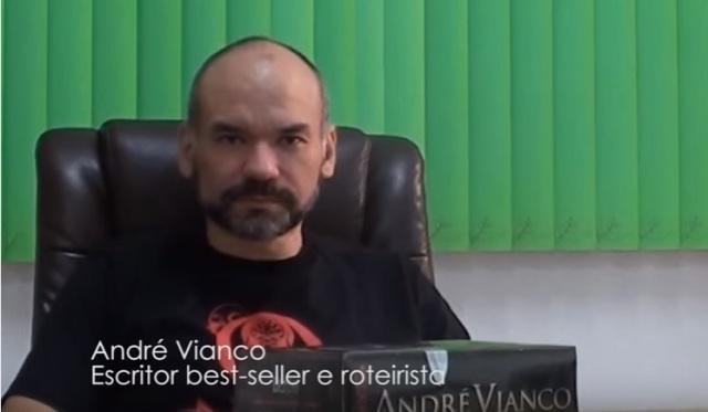 André Vianco, autor nacional de livros de fantasia.