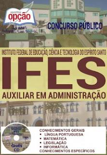 Apostila IFES Espírito Santo - Auxiliar em Administração