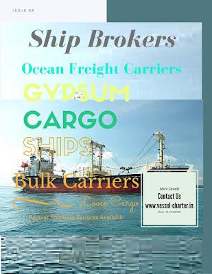 Gypsum Shipment, Gypsum Cargo, DWT, MT, Loading, Discharge, Laycan, Gearless, Geared