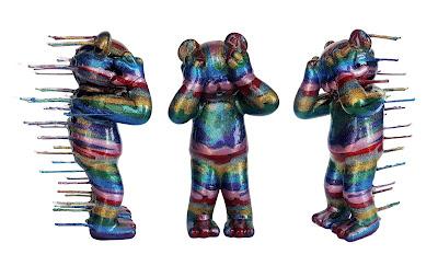"""All That Glitters Is Blinding"" Veil Specimen 72 Custom Vinyl Figure by Josh Mayhem x Jermaine Rogers"