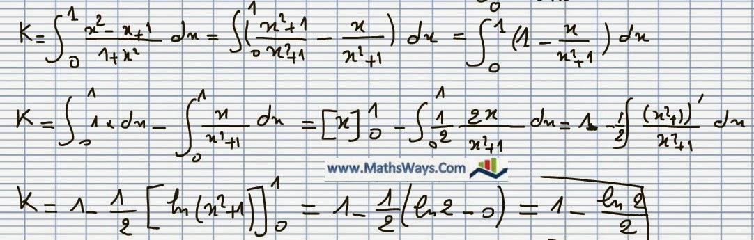 سلسلة حساب التكامل - س3- Calcul d'intégrale