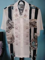 camisa bordada tamanho M
