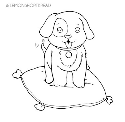 FREE DIGI STAMP - PUPPY ON CUSHION