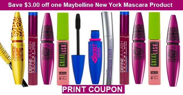 23459486246 Just Released: Save $3.00 off one Maybelline New York Mascara Product  Coupon! PRINT NOW! http://www.cvscouponers.com/2017/06/just-