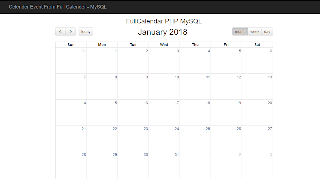 calender event using fullcalendar