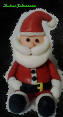 Papá Noel fondant