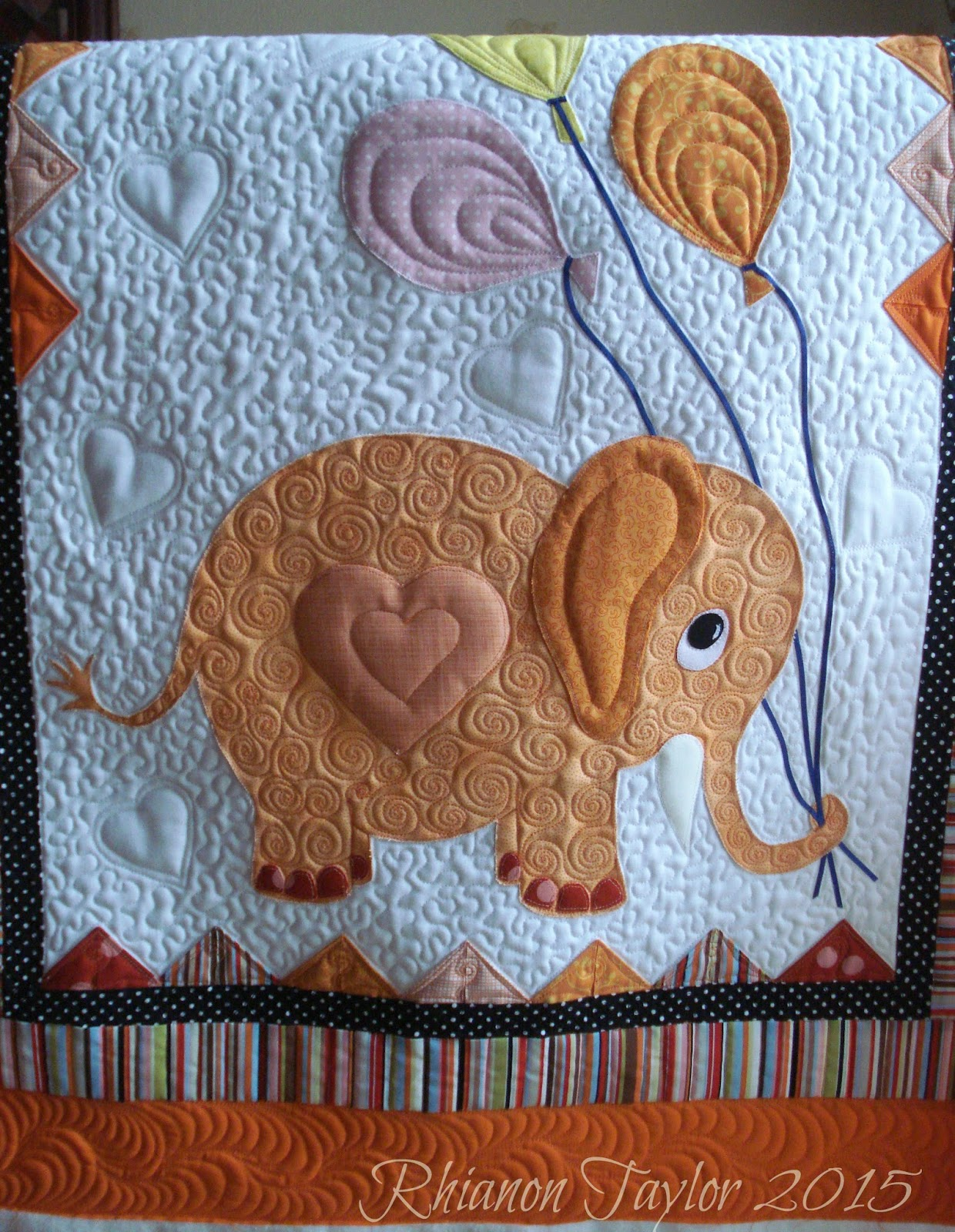 The Nifty Stitcher: Penelope's Elephant Baby Quilt