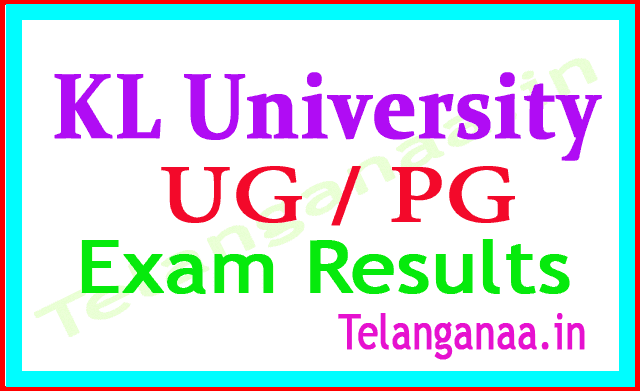 KLUEEE Results 2018 KL University UG  PG Exam Results 2018