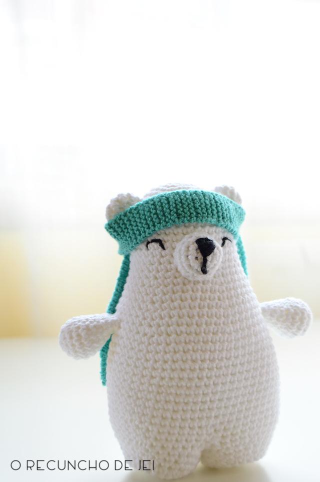 O Recuncho de Jei: Amigurumi: el oso polar Ted