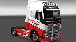 Volvo Coca-Cola skin mod