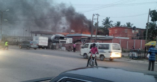 Fire Outbreak as Fuel Tanker Exploded in Lagos