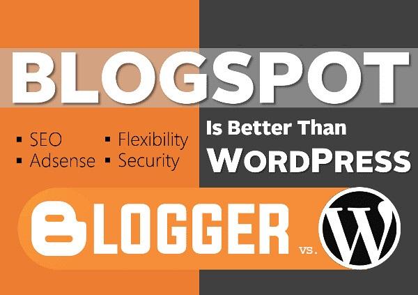 WordPress vs BlogSpot Yang Lebih Bagus & Kenapa?