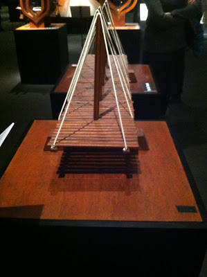 Suspension bridge facsimile, from Da Vinci designs in notebooks