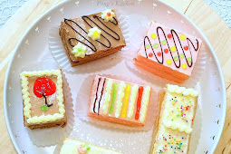 Old School Buttercream Cake Slices