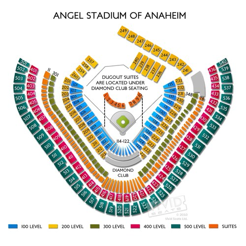 angels stadium seating chart - Angel Stadium Interactive Seating Chart A View From My Seat