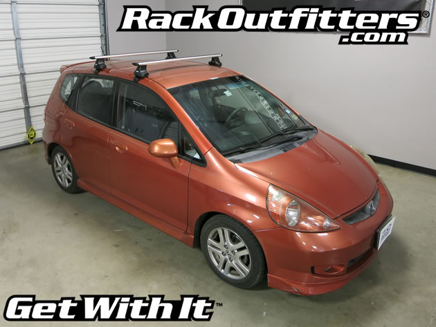Honda Fit Thule Rapid Traverse SILVER AeroBlade Base Roof