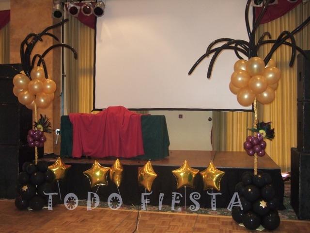 Decoraci n con globos de todo fiesta decoraci n para for Ideas decoracion navidad colegio
