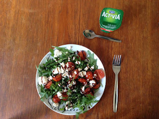 Activia Yogurt and Rocket Salad