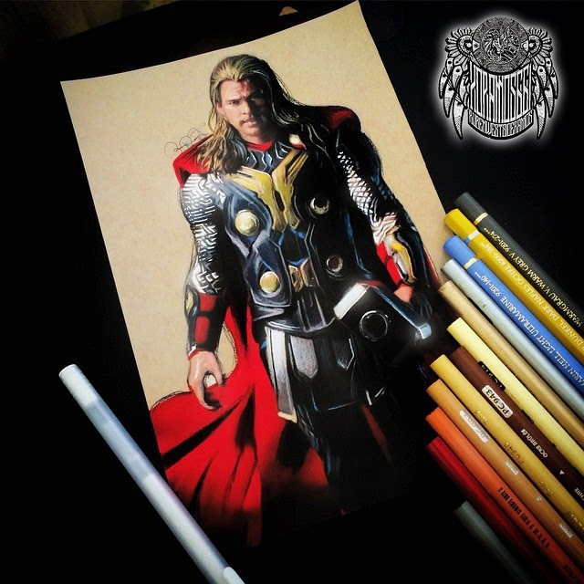 11-Thor-Ramos-Ruben-xoramos661-Photo-Real-Comic-Book-Coloured-Drawings-www-designstack-co