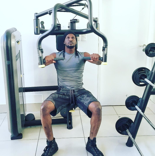 PSquare Shares Workout Photos : Peter Okoye Hits The Gym