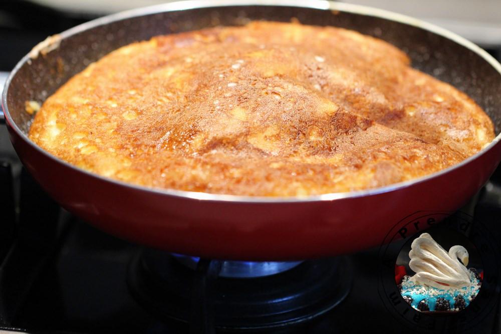 Omelette soufflée au camembert et tête de moine
