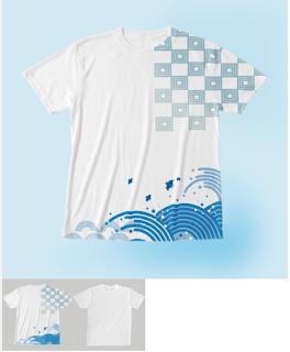 江戸の粋な全面柄Tシャツ