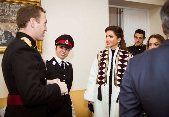 King Abdullah II, Queen Rania, Crown Prince Al Hussein and Princess Iman came to the United Kingdom and attended the Commissioning Parade