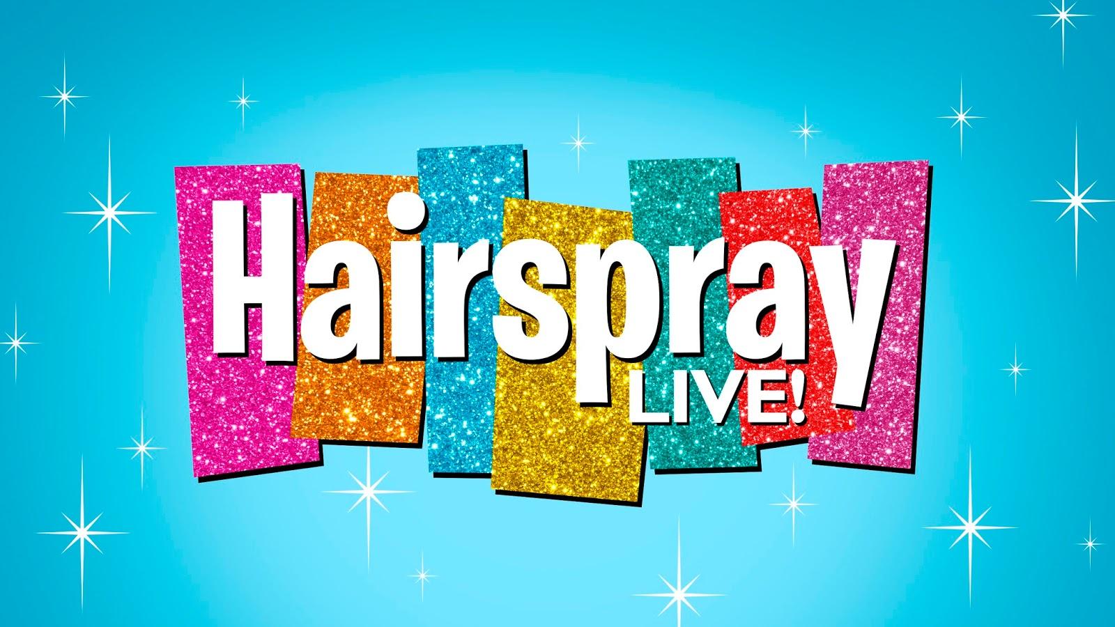 El logo oficial de Hairspray Live!