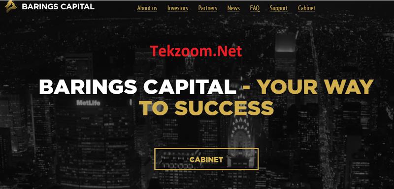 [SCAM] Review Barings-Capital : Lãi 23% - 51% hằng tháng - Đầu tư tối thiểu 10$ - Thanh toán Manual
