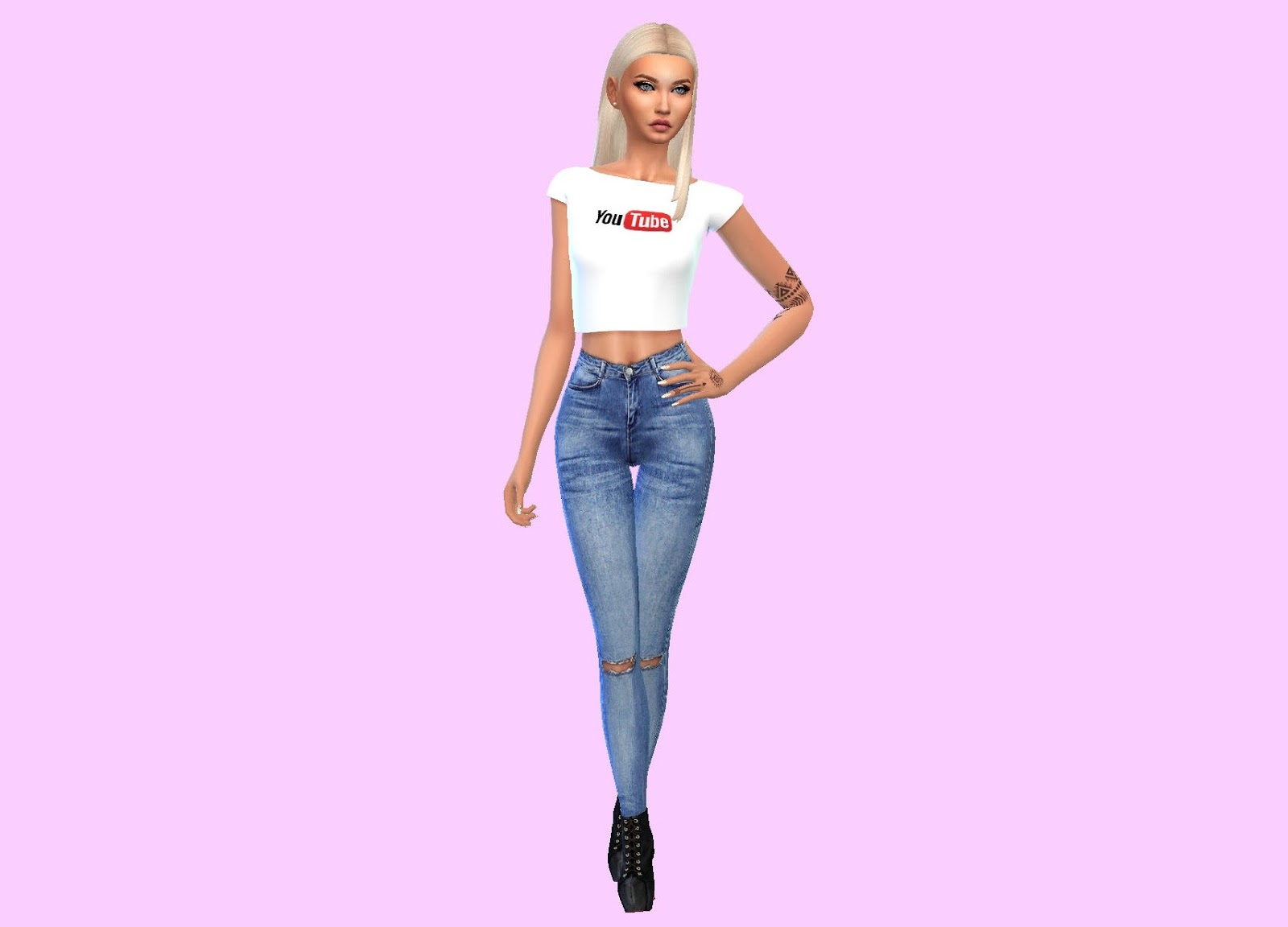 d544d85ed79 Plain white crop top with the Youtube logo. I will be uploading more Youtube-themed  tops soon so stay tuned :)