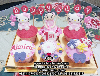Cupcake Fondant 3d Hello Kitty
