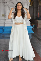 Telugu Actress Amyra Dastur Stills in White Skirt and Blouse at Anandi Indira Production LLP Production no 1 Opening  0070.JPG