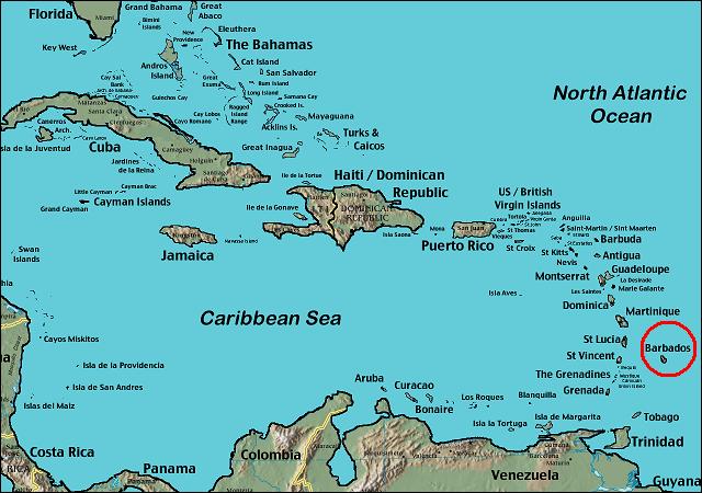 barbados mapa BARBADOS: MAPA UBICACION BARBADOS barbados mapa