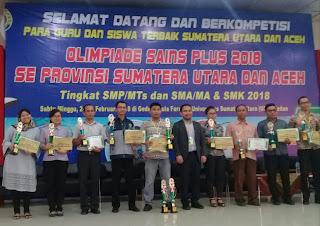 Olimpiade Sains Plus Se-Provinsi Sumatera Utara dan Aceh