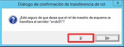transferencia de la función de esquema